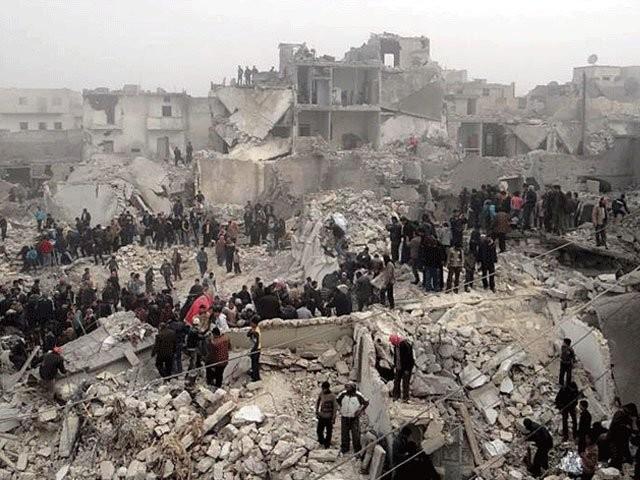 شام میں روسی طیاروں کی بمباری سے 50 افراد ہلاک - ایکسپریس اردو