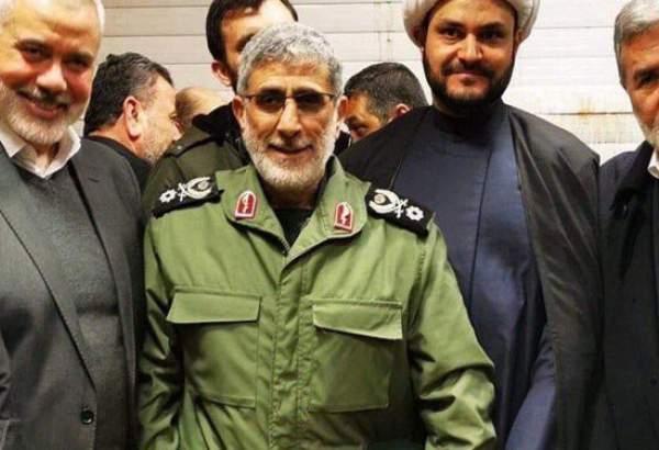 القدس فورس کے سربراہ جنرل قاسم اسماعیل قانیسے اسماعیل ھنیہ ملاقات