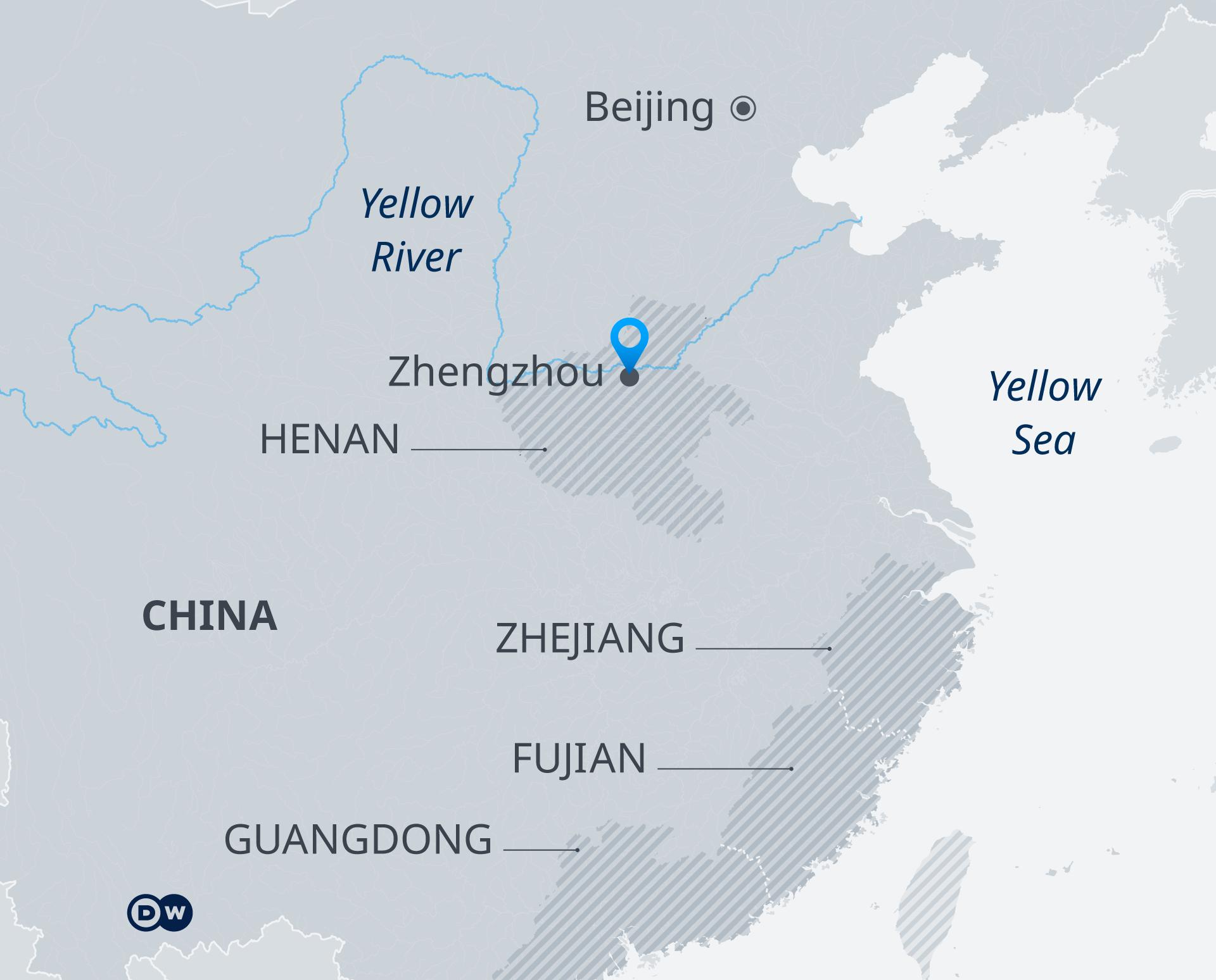 انفوگرافک نقشہ چین زینگجو سیلاب EN